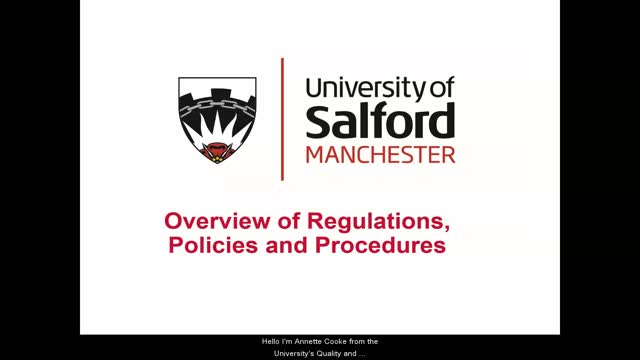 Overview Regulations 19/20 inc CC