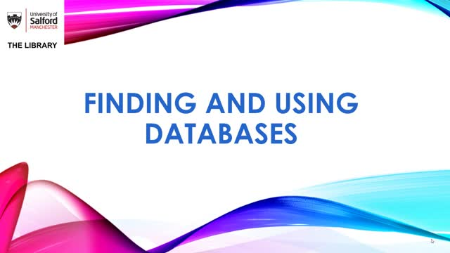 Finding and using databases