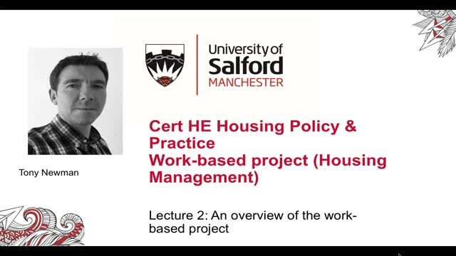 Lecture 2 Overview of the work based project