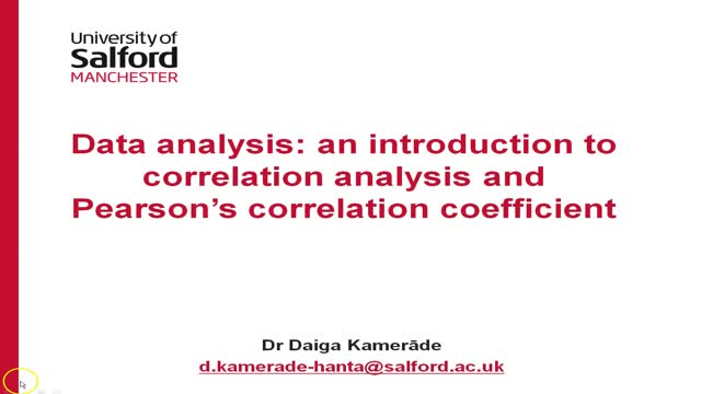 Introduction to correlation analysis