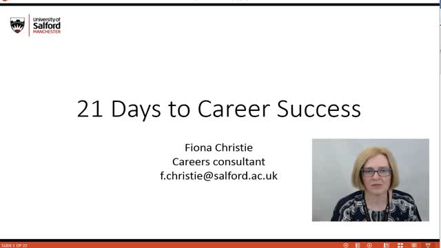 Introduction to 21 Days to Career Success