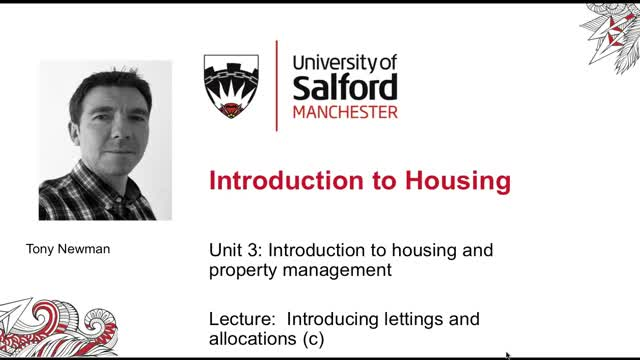 Unit 3 Lecture 9c Introducing lettings and allocations part c