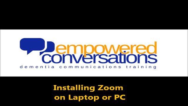 Installing Zoom on laptop or PC