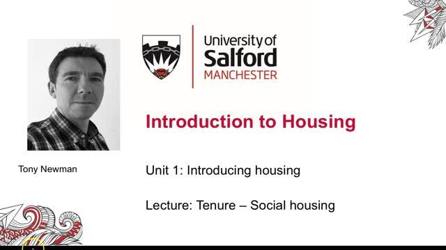 Unit 1 Lecture 4c: Social Housing
