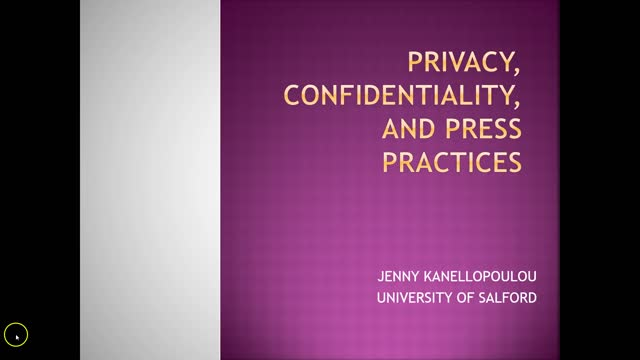 Privacy and Confidentiality in the Press