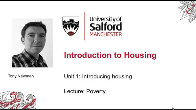 Unit 1, Lecture 9: Poverty